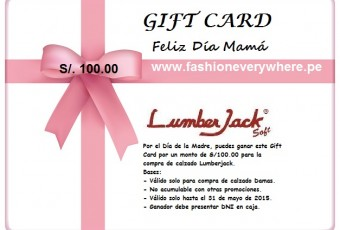 Gift card_Lumberjack_zapatos_Día de la Madre_www.fashioneverywhere.pe_1