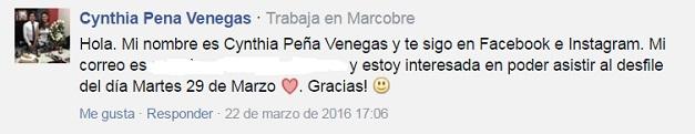 comentario ganador entradas standing ALVARNO_Cynthia Peña Venegas