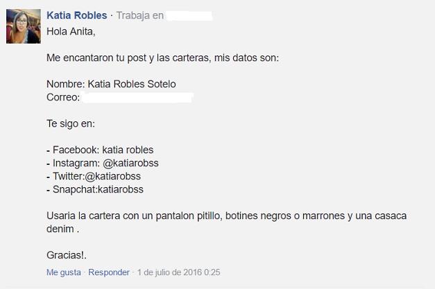 ganadora sorteo Plum Shop Online_Katia Robles